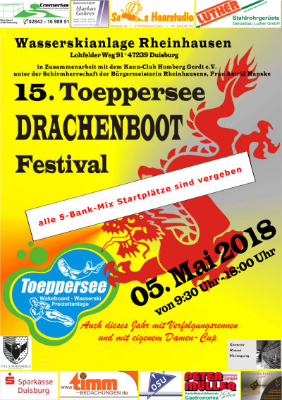 Toeppersee DRACHENBOOT Festival